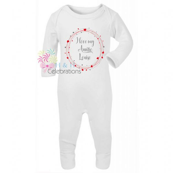 I Love My... Hearts Around Personalised Baby Romper